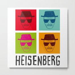 Heisenberg Popart Metal Print