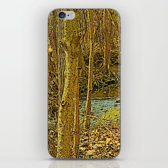 Gold Woodlands iPhone & iPod Skin