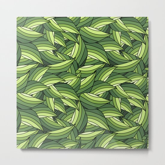 GREENERY LEAVES B  (abstract flowers nature) Metal Print