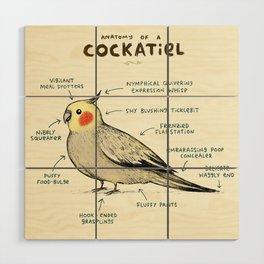 Anatomy of a Cockatiel Wood Wall Art