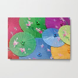 Color full Umbrellas Metal Print