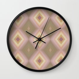 Nested Diamonds Wall Clock