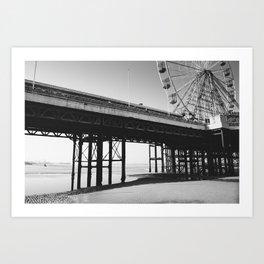 Blackpool Pier and big Wheel Art Print