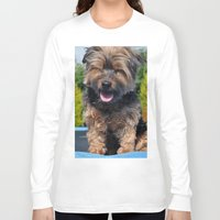 yorkie Long Sleeve T-shirts featuring Yorkie by Sammycrafts
