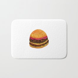 Watercolor hamburger Bath Mat