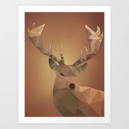 Polygon Deer Art Print