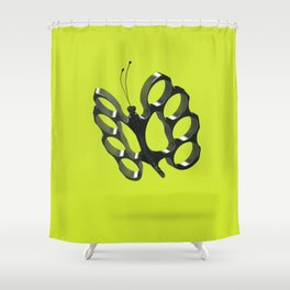 Fly like a butterfly, sting like a bee Shower Curtain