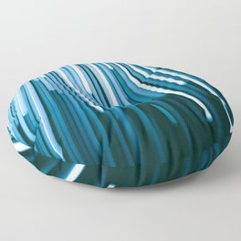 Hyperspace Fiber Optics Blue white Streaks Of Light Floor Pillow