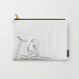 R2D2 black and white Carry-All Pouch