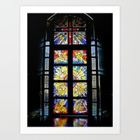 stained glass Art Prints featuring Stained Glass by Sean Foreman