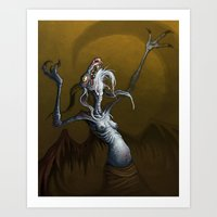 baphomet Art Prints featuring Baphomet by Ejay Basford