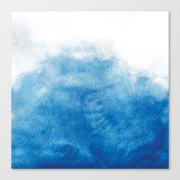 Watercolor Waves Canvas Print