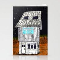 moonrise kingdom Stationery Cards featuring Moonrise Kingdom by Veronique de Jong