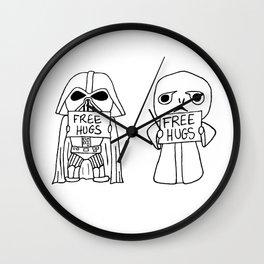 villains Hugs Wall Clock