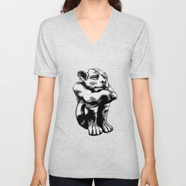 Chill-in Gargoyle Unisex V-Neck