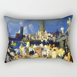 """George Wesley Bellows """"River Front"""" Rectangular Pillow"""