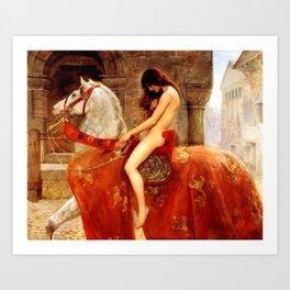 Lady Godiva Art Print