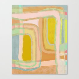 Shapes and Layers no.28 - Modern Squares and Stripes Canvas Print