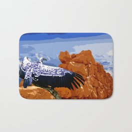 Vulture Spirit Guide Bath Mat