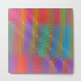 Purple Textured Pattern Metal Print