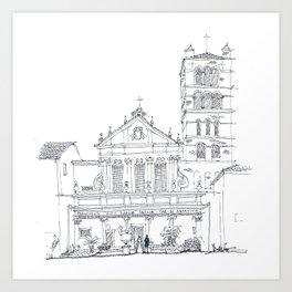 Basilica di Santa Cecilia in Trastevere Art Print
