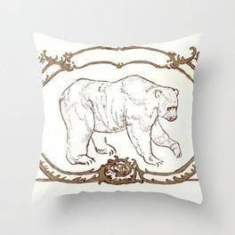 Bear Vignette Throw Pillow