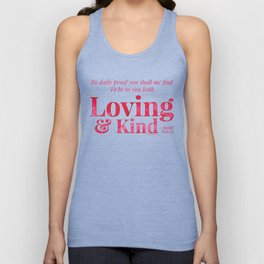 Loving & Kind in Bright Pink Unisex Tank Top