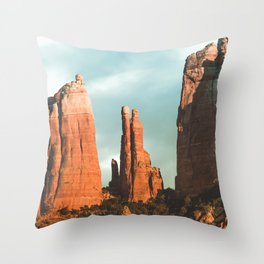 Desert Vortex Throw Pillow