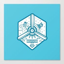 Birthplace of Aviation - Blue Canvas Print