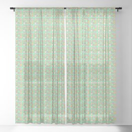 Fuck This Shit - with cuteness Sheer Curtain