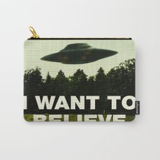 UFO, I Want To Believe Carry-All Pouch