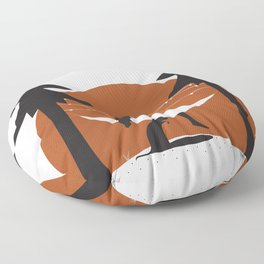 Camping with Dogs Floor Pillow