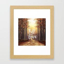 Fall in love of Autumn Framed Art Print