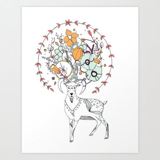 like a halo around your head Art Print