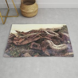 """Kaa"" the Giant Python from Kiplings Tales of the Jungle Rug"