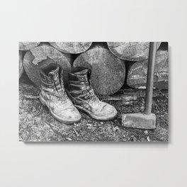 Manual Labor - Firewood 5 Metal Print