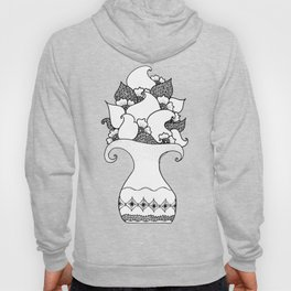 Amphora - White Black Hoody