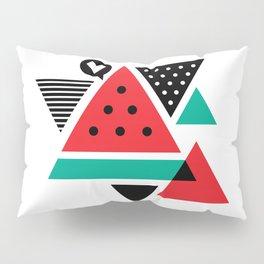 Watermelon Geometic Triangles Pillow Sham