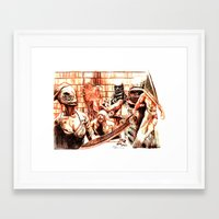 silent hill Framed Art Prints featuring Silent Hill by Joseph Silver