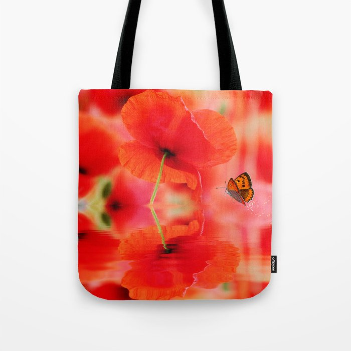 Summer Dream of Poppies Tote Bag
