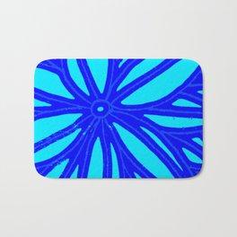 aqua blue bloom Bath Mat