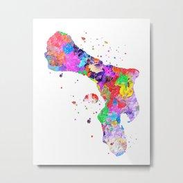 Bonaire Map Metal Print