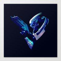 garrus Canvas Prints featuring Mass Effect: Garrus Vakarian by Fiona Ng