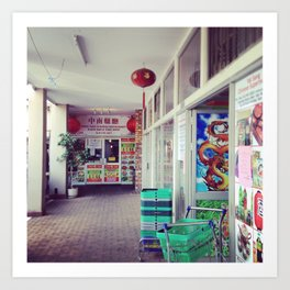 #269 A little Chinese corner in Pretoria Art Print