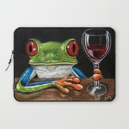 """""""Cabernet"""" - Frogs After Five collection Laptop Sleeve"""