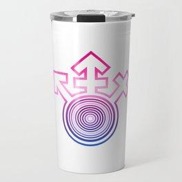 Universal Gay Pride LGBT Bisexual Symbol Travel Mug