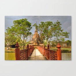 Temple Bridge Canvas Print