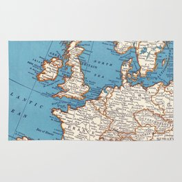 Map of Europe Rug