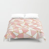 Ab Out Blush Gold 2 Duvet Cover