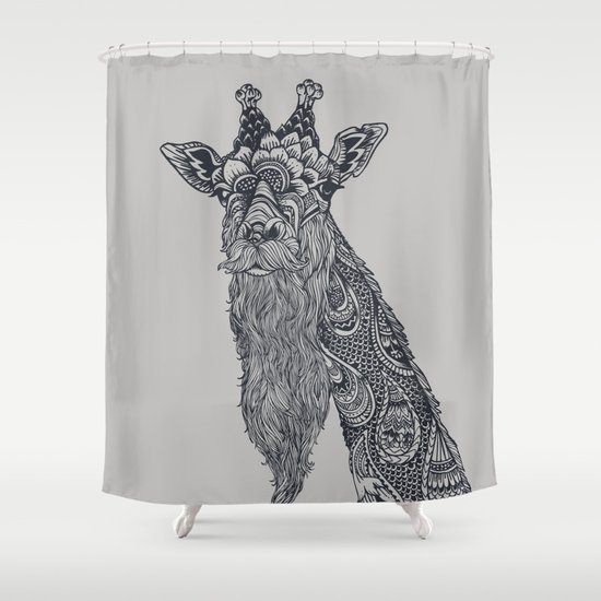 Giraffe Movember Shower Curtain